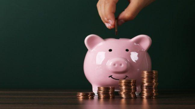 Piggy bank, savings fund and the use of discounts
